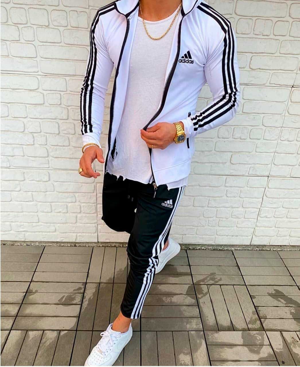 Спортивный костюм адидас черно белый